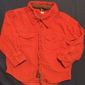 babyGap corduroy shirt orange 2T